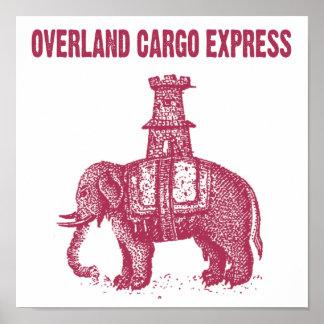 Elephant Overland Cargo Express Poster