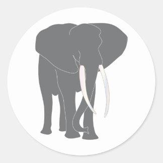 Elephant Pachyderm Elephantidae Mammals Animals Round Sticker