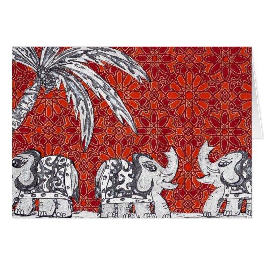 Elephant Parade 3 Card