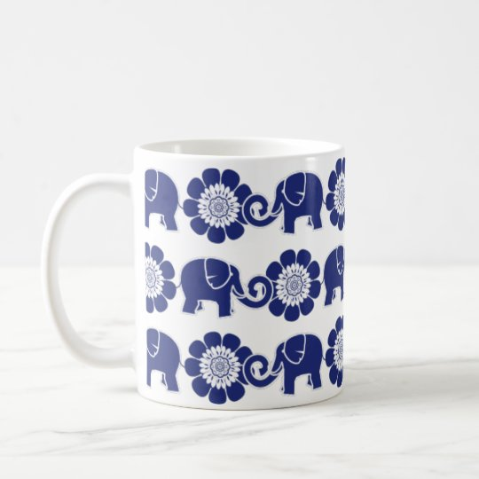 Elephant Parade Blue & White Mug Cobalt