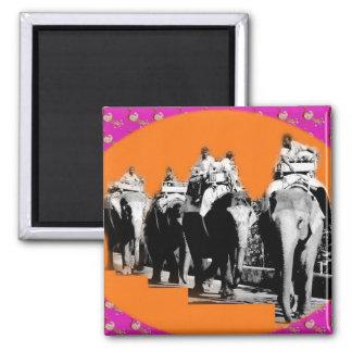 Elephant Parade Square Magnet