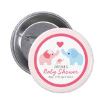 Elephant Parents and Baby Shower Buttons
