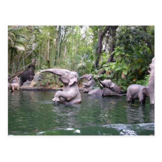 Elephant Party Time Postcard