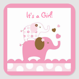 Elephant Patches Pink Stickers Envelope Seals