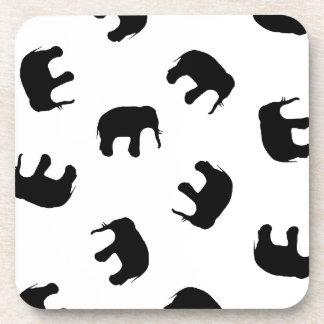 Elephant pattern coasters