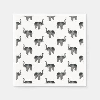 Elephant Pattern Disposable Serviette