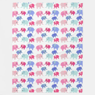 Elephant Pattern Fleece Blanket