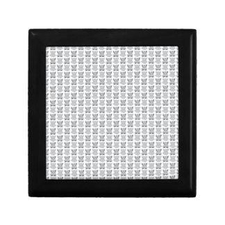 Elephant Pattern in Grey Gift Box