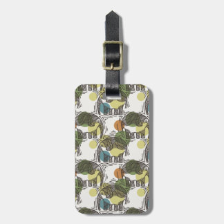 Elephant Pattern Luggage Tag