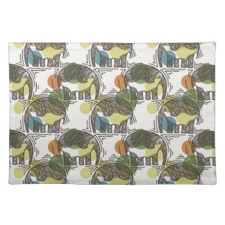 Elephant Pattern Placemat