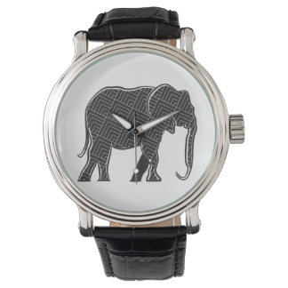 Elephant Pattern Sophisticated Elegant Minimal Watch