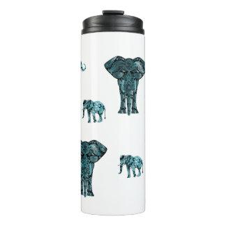 Elephant Pattern Thermal Tumbler