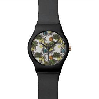 Elephant Pattern Wristwatch