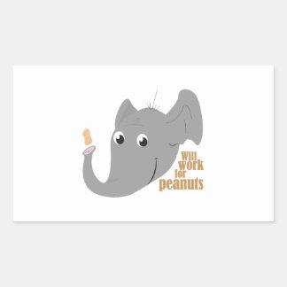 Elephant Peanut Sticker