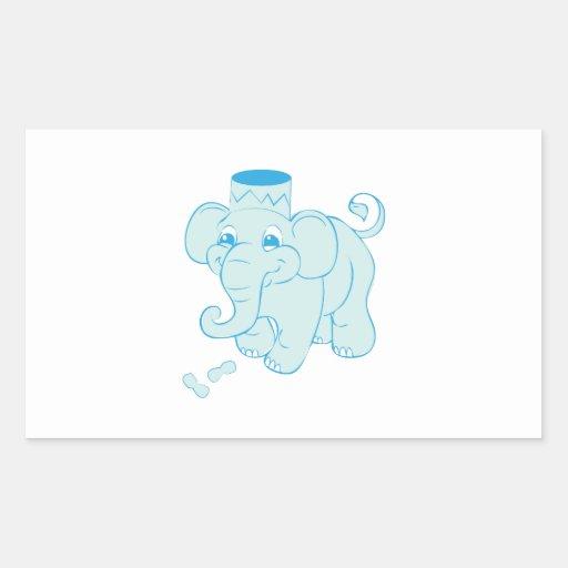 Elephant Peanuts Rectangular Stickers