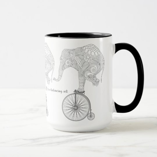 Elephant Penny Farthing Bicycle Balance Mug