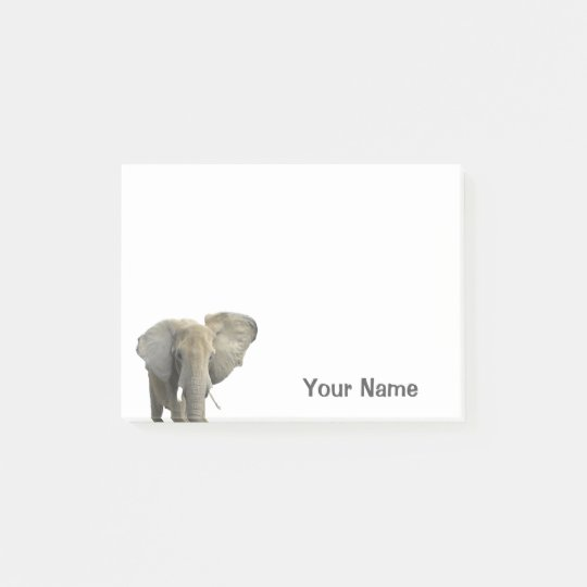 Elephant Personalised Name Post-it Notes