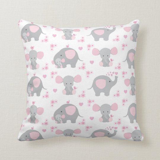 Elephant Pink Grey Safari Animal Nursery Baby Girl