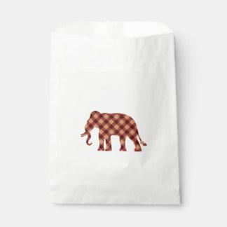 Elephant plaid favour bags