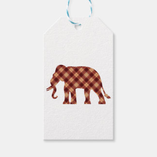 Elephant plaid gift tags