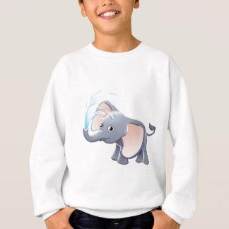 Elephant Playing Animal Cartoon Character Sweatshirt