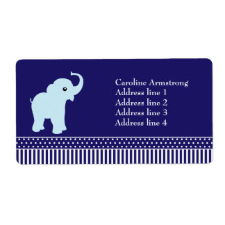 Elephant polka dots stripes custom address labels