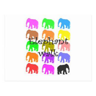 Elephant PopArt Gifts Post Card