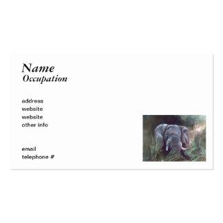 Elephant Portrait Business Cards