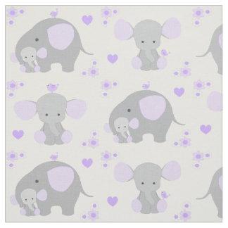 Elephant nursery fabric for Purple nursery fabric