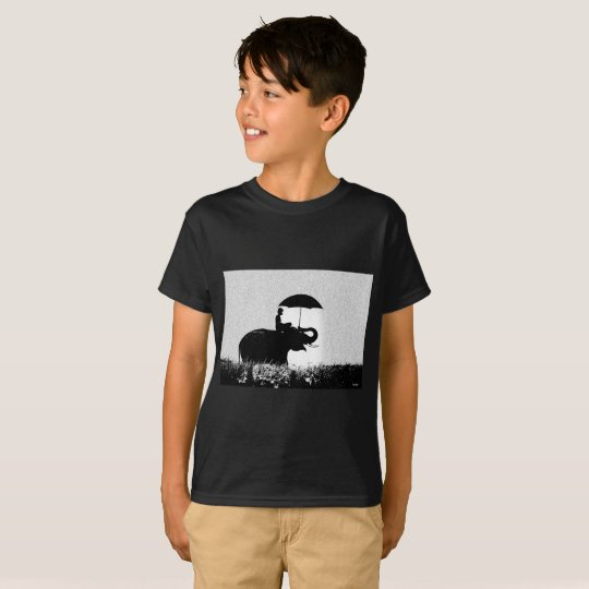 Elephant rain Art- because Kids' Hanes TAGLESS® T-Shirt