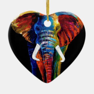 ELEPHANT RETRO STYLE CHRISTMAS ORNAMENT