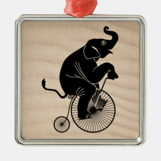 Elephant Riding a Bike Christmas Ornament