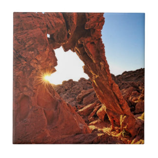 Elephant Rock in the Valley of Fire Small Square Tile