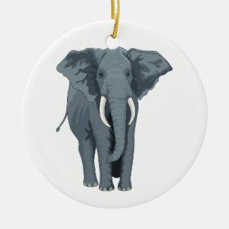 Elephant Round Ceramic Decoration