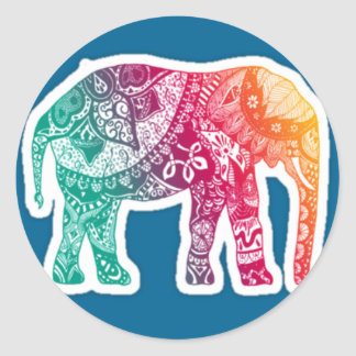 Elephant Round Sticker