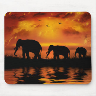 Elephant Safari Mouse Pad