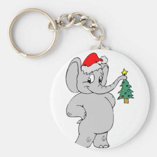 Elephant (Santa Hat) Key Ring
