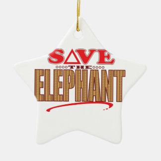 Elephant Save Christmas Ornament