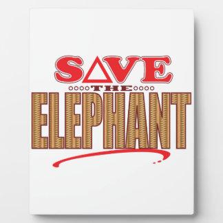 Elephant Save Plaque