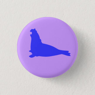Elephant Seal Button Blue