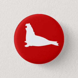 Elephant Seal Button White