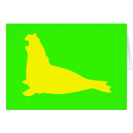 Elephant Seal Card Yellow
