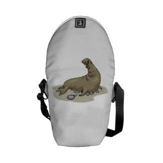 Elephant Seal Messenger Bag