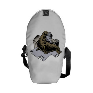 Elephant Seal Messenger Bags