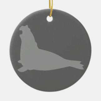 Elephant Seal Ornament Grey