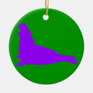 Elephant Seal Ornament Purple