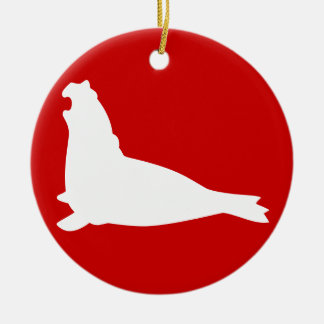 Elephant Seal Ornament White