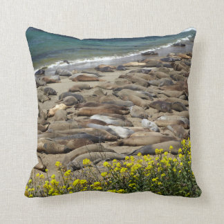 Elephant Seal Rookery Cushion