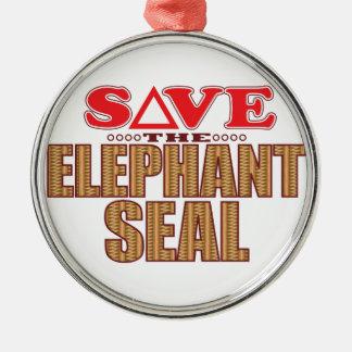 Elephant Seal Save Christmas Ornament