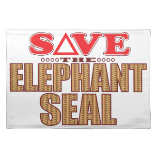 Elephant Seal Save Placemat